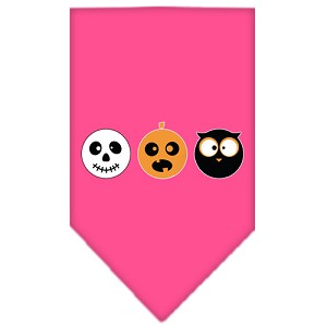 The Spook Trio Screen Print Bandana Bright Pink Small