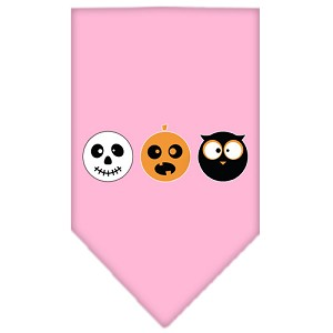 The Spook Trio Screen Print Bandana Light Pink Large