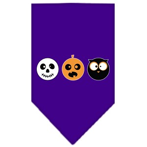 The Spook Trio Screen Print Bandana Purple Small