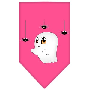 Sammy the Ghost Screen Print Bandana Bright Pink Small