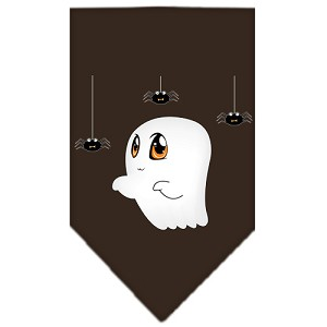 Sammy the Ghost Screen Print Bandana Brown Large