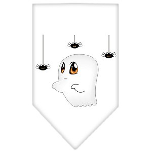 Sammy the Ghost Screen Print Bandana White Small