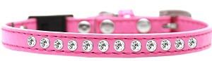 Clear Jewel Breakaway Cat Collar Bright Pink Size 10