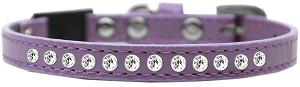 Clear Jewel Breakaway Cat Collar Lavender Size 12