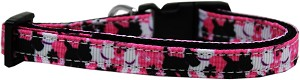 Plaid Pups Nylon Ribbon Dog Collar XS