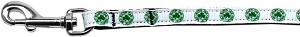 Kiss Me - I'm Irish Nylon Ribbon Pet Leash 3/8 inch wide 6Ft Lsh