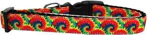 Tie Dye Nylon Ribbon Dog Collar Medium Narrow