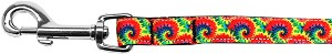 Tie Dye Nylon Ribbon Pet Leash 5/8 inch wide 6Ft Lsh