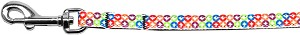 Bright Diamonds Nylon Ribbon Pet Leash 3/8 inch wide 4Ft Lsh