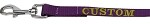 Custom Embroidered Made in the USA Nylon Pet Leash 3/8in by 4ft Purple