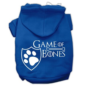 Game of Bones Screenprint Dog Hoodie Blue S (10)