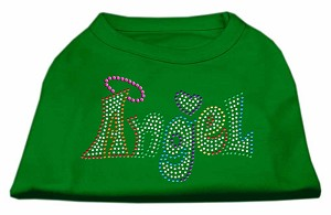 Technicolor Angel Rhinestone Pet Shirt Emerald Green Sm (10)