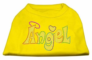 Technicolor Angel Rhinestone Pet Shirt Yellow XL (16)
