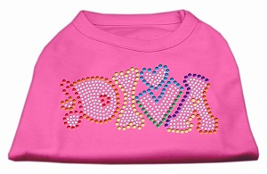 Technicolor Diva Rhinestone Pet Shirt Bright Pink Sm (10)