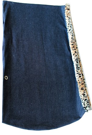Puppy Holdem Sling Denim w/ Cheetah Trim Size Large