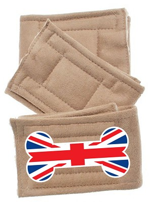 Peter Pads Tan Size MD British Bone Flag 3 Pack