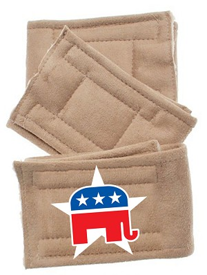 Peter Pads Tan Size LG Republican 3 Pack