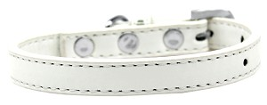 Wichita Plain Dog Collar White Size 10