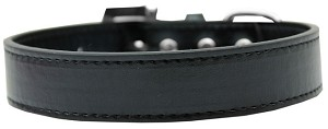 Lincoln Plain Dog Collar Black Size 14