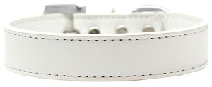 Lincoln Plain Dog Collar White Size 16