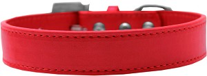 Lincoln Plain Dog Collar Red Size 16