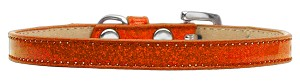Wichita Plain Ice Cream Dog Collar Orange Size 12