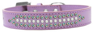 Ritz Pearl and AB Crystal Dog Collar Lavender Size 20