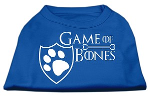 Game of Bones Screen Print Dog Shirt Blue XL (16)