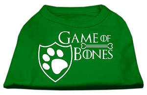 Game of Bones Screen Print Dog Shirt Green Sm (10)