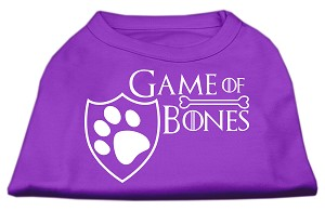 Game of Bones Screen Print Dog Shirt Purple XS (8)