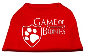 Game of Bones Screen Print Dog Shirt Red XS (8)