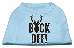 Buck Off Screen Print Dog Shirt Baby Blue XXXL (20)
