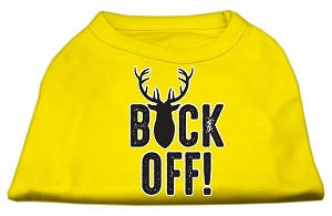 Buck Off Screen Print Dog Shirt Yellow Med (12)
