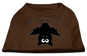 Batsy the Bat Screen Print Dog Shirt Brown Med (12)