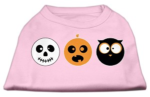 The Spook Trio Screen Print Dog Shirt Light Pink Med (12)