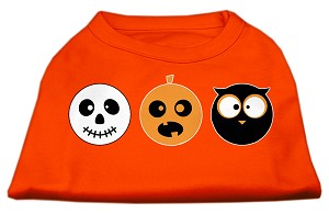 The Spook Trio Screen Print Dog Shirt Orange Sm (10)