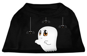 Sammy the Ghost Screen Print Dog Shirt Black XL (16)