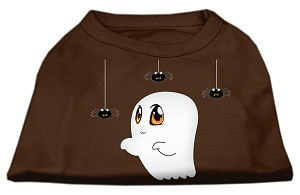 Sammy the Ghost Screen Print Dog Shirt Brown Lg (14)