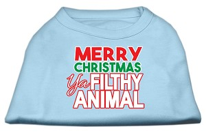 Ya Filthy Animal Screen Print Pet Shirt Baby Blue Med (12)