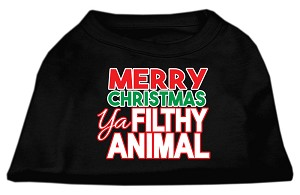 Ya Filthy Animal Screen Print Pet Shirt Black Lg (14)