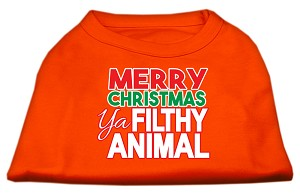 Ya Filthy Animal Screen Print Pet Shirt Orange XS (8)