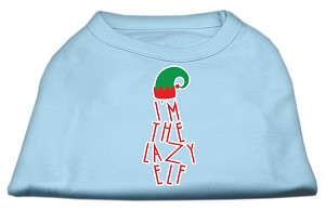 Lazy Elf Screen Print Pet Shirt Baby Blue XL (16)
