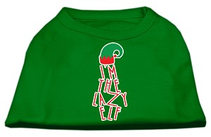 Lazy Elf Screen Print Pet Shirt Emerald Green XXXL (20)