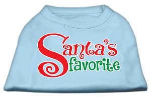 Santas Favorite Screen Print Pet Shirt Baby Blue XL (16)