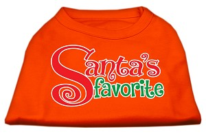 Santas Favorite Screen Print Pet Shirt Orange XL (16)