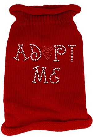 Adopt Me Rhinestone Knit Pet Sweater XS Red