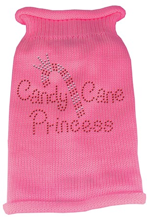 Candy Cane Princess Knit Pet Sweater XXL Pink