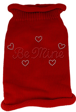 Be Mine Rhinestone Knit Pet Sweater MD Red