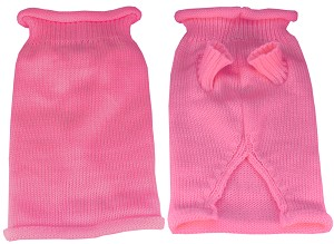 Plain Knit Pet Sweater SM Pink
