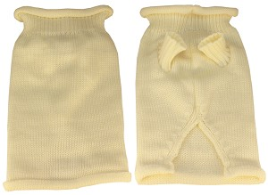 Plain Knit Pet Sweater MD Cream